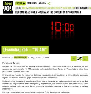 Zoe–10AM-Ibero909