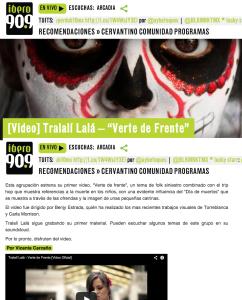 "Video  Tralalí Lalá – ""Verte de Frente""   Ibero 90.9"